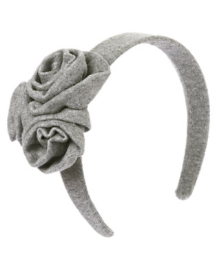Heather Grey Rosette Jersey Headband by Gymboree