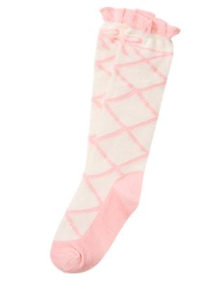 Girls Ballerina Pink Ballet Shoe Knee Sock by Gymboree