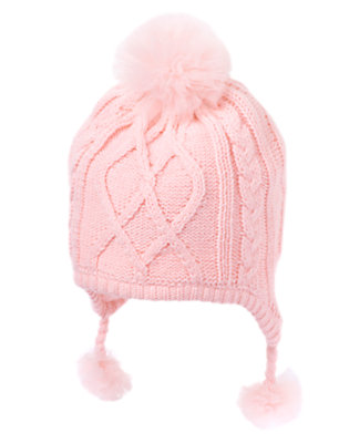 Ballerina Pink Tulle Pom Pom Sweater Hat by Gymboree