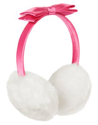 Pirouette Pink Satin Bow Faux Fur Earmuff by Gymboree