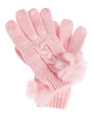 Ballerina Pink Tulle Pom Pom Sweater Glove by Gymboree