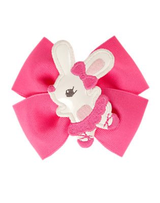 Pirouette Pink Ballerina Bunny Bow Hair Clip by Gymboree