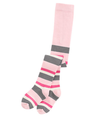 Toddler Girls Heather Grey Stripe Stripe Tight by Gymboree