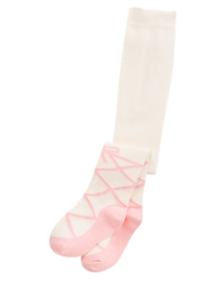 Vanilla Ivory Ballet Shoe Tight by Gymboree