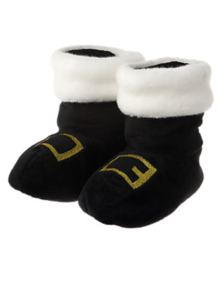 Black Santa Slipper by Gymboree