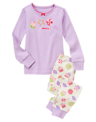 Toddler Girls Lavender I'm A Sweetie Two-Piece Gymmies® by Gymboree
