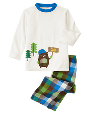 Ivory Bear Two-Piece Pajama Set by Gymboree