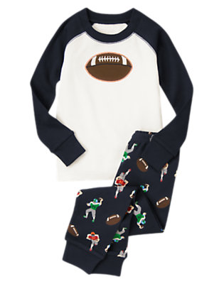 Navy Football Two-Piece Gymmies® by Gymboree
