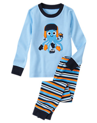 Underwater Blue Mitten Octopus Two-Piece Gymmies® by Gymboree