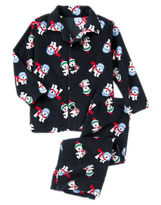 Navy Polar Bears Microfleece Two-Piece Pajama Set by Gymboree