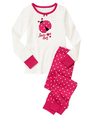 Love Bug Pink Love Bug Two-Piece Gymmies® by Gymboree