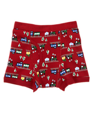 Boys Caboose Red Train Boxer Brief by Gymboree