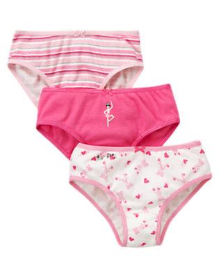 Girls Ballerina Pink Ballet Panty Three-Pack by Gymboree