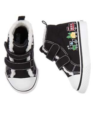 Black Train High Top Sneaker by Gymboree