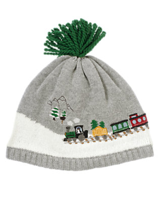 Heather Grey Train Sweater Hat by Gymboree