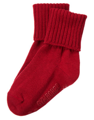Caboose Red Foldover Sock by Gymboree