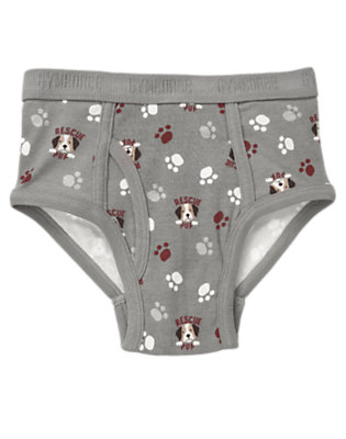 Boys Grey Rescue Pup Brief by Gymboree