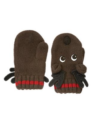 Dark Brown Reindeer Sweater Mitten by Gymboree