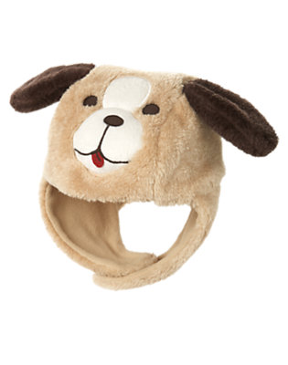 Toddler Boys Tan Faux Fur Puppy Hat by Gymboree