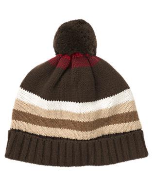 Dark Brown Stripe Stripe Sweater Hat by Gymboree