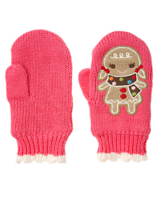 Toddler Girls Winter Pink Gingerbread Girl Sweater Mitten by Gymboree