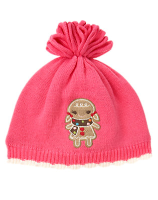 Toddler Girls Winter Pink Gingerbread Girl Sweater Hat by Gymboree