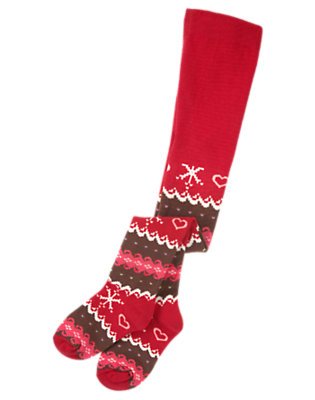 Chestnut Brown Fair Isle Fair Isle Tight by Gymboree