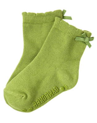 Toddler Girls Joyful Green Bow Sock by Gymboree