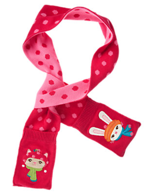 Cheery Red Dot Kitty Bunny Pocket Sweater Scarf by Gymboree