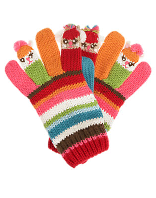 Winter Pink Stripe Stripe Sweater Puppet Glove by Gymboree