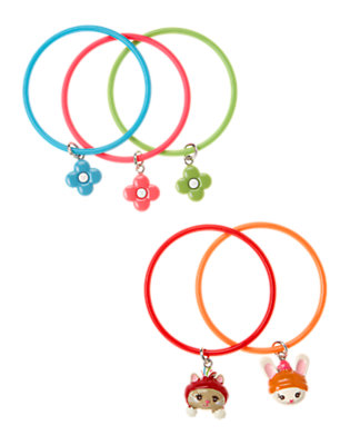 Girls Cheery Red Kitty Bunny Bangle Bracelet Five-Pack by Gymboree