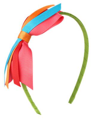Girls Joyful Green Bow Headband by Gymboree