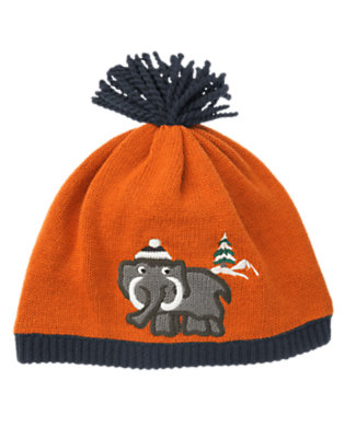 Toddler Boys Orange Ochre Woolly Mammoth Sweater Beanie by Gymboree