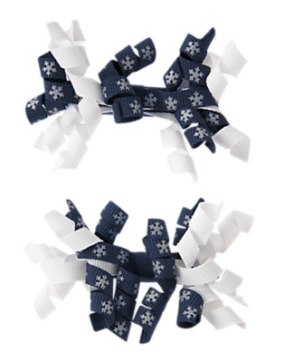 Toddler Girls Princess Blue Snowflake Curly Hair Clip Two-Pack by Gymboree