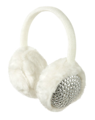 Holiday Ivory Sequin Faux Fur Earmuff by Gymboree