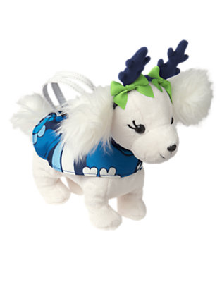 Girls Holiday Ivory Reindeer Dog Plush Purse by Gymboree