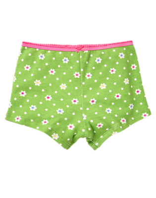 Girls Lime Flower Flower Hipster Panty by Gymboree