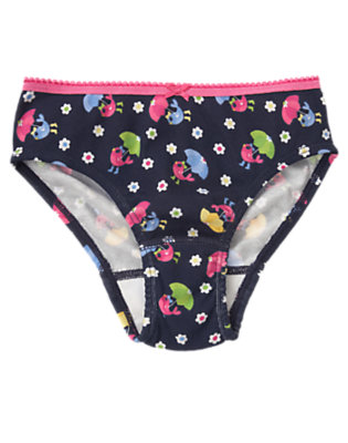 Girls Navy Blue Umbrella Bird Panty by Gymboree