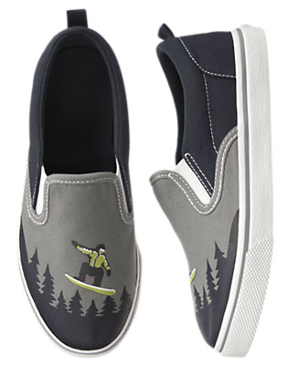 Boys Navy Snowboarder Slip-On Sneaker by Gymboree