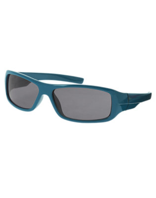 Boys Teal Blue Rectangular Sunglasses by Gymboree