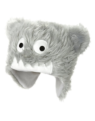 Boys Ice Grey Faux Fur Snow Monster Hat by Gymboree