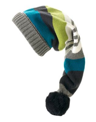 Navy Stripe Sweater Hat by Gymboree