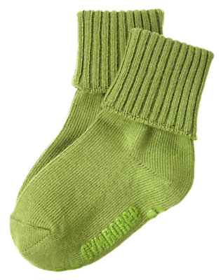 Boys Moss Green Foldover Sock by Gymboree