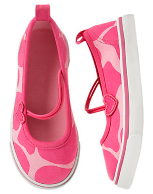 Loveable Pink Giraffe Giraffe Sneaker by Gymboree