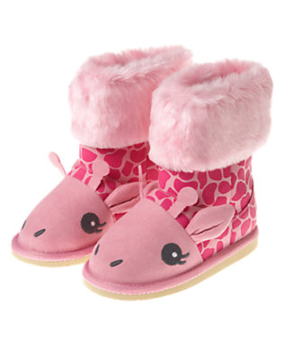 Loveable Pink Giraffe Giraffe Boot by Gymboree
