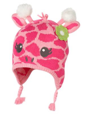 Toddler Girls Loveable Pink Giraffe Giraffe Sweater Hat by Gymboree