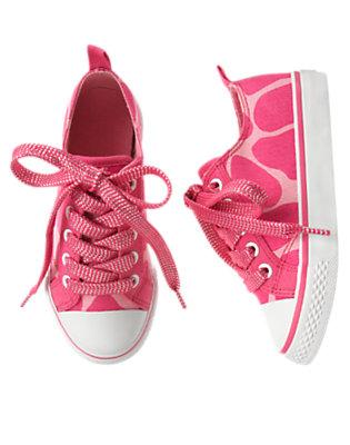 Girls Loveable Pink Giraffe Giraffe Sneaker by Gymboree
