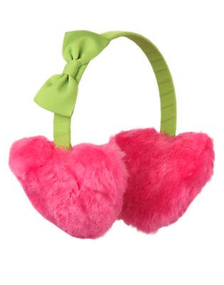 Loveable Pink Heart Faux Fur Earmuff by Gymboree
