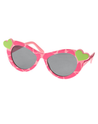 Girls Loveable Pink Giraffe Heart Giraffe Sunglasses by Gymboree