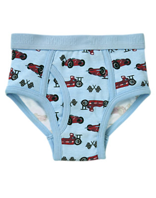 Boys Light Blue Race Car Brief by Gymboree